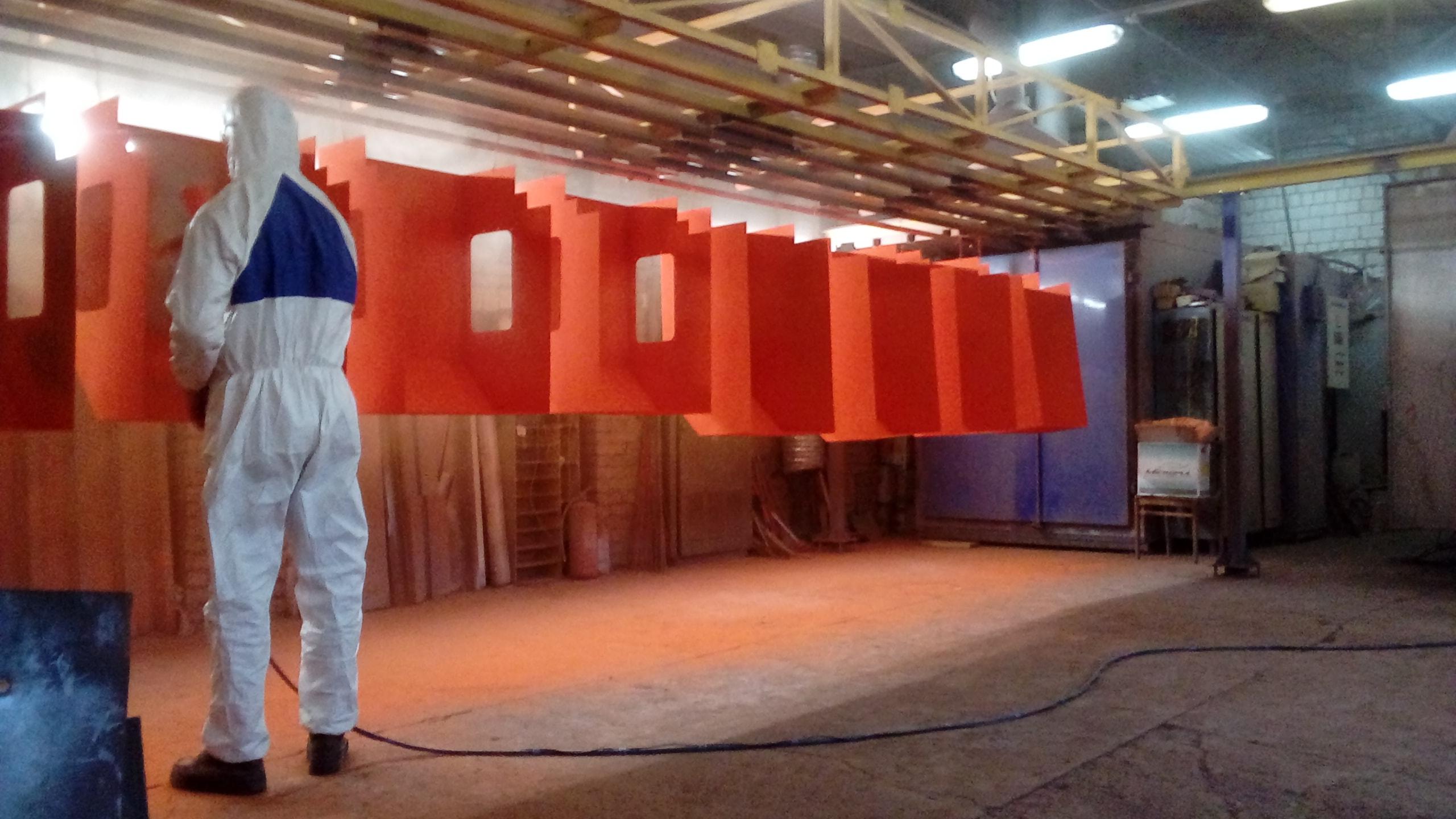 Порошково-полимерная покраска изделий, металла