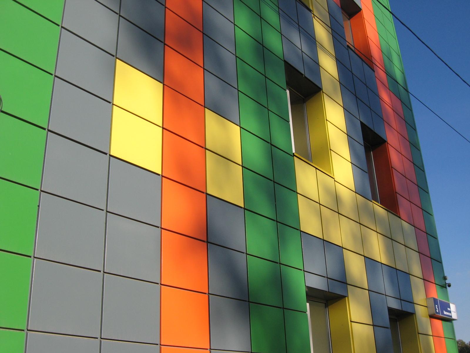 Покраска фасадных кассет